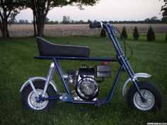 Rupp mini-bike  After the tickets on the Harley, dad gave up and got me a bike of my own. lol