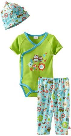 Amazon.com: Zutano Baby-Girls Newborn Penny Owl Short Sleeve Onezie: Clothing