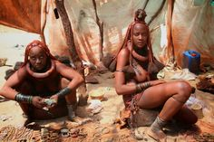 Namibia Himba Tribe Women Selling Tourist Souvenirs by Anthony Maw on 500px