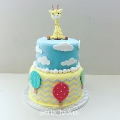 Christening cake for baby boy by mia_bakes