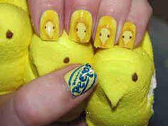 Peeps nail art