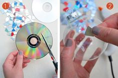 Bolas  navideñas con cds