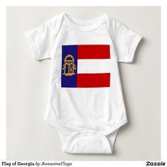 Flag of Georgia Baby Bodysuit