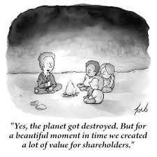 "Premium Giclee Print: ""Yes, the planet got destroyed. But for a beautiful moment in time we created a lot of value for shareholders."" by Tom Toro New Yorker Cartoons, Caricatures, Together We Can, The New Yorker, Beautiful Moments, Nye, Popular Memes, Funny Pictures, Funny Pics"