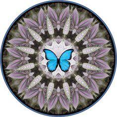 Blue Morpho Botanical Mandala Mandala Art by BotanicalMandalas