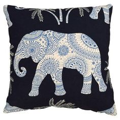 Check out this item at One Kings Lane! Ona 22x22 Pillow, Indigo