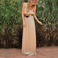 Maxi Dress Cream, $89, now featured on Fab.