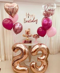 Birthday Goals, Gold Birthday Party, 18th Birthday Party, Birthday Balloons, Birthday Party Themes, Simple Birthday Decorations, Balloon Decorations Party, Birthday Girl Pictures, Ornament Wreath