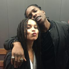 Zoë Kravitz and A$AP Rocky are #dope.