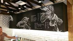 Cafe chalkboard. SuperGlue Store Emporium. Melbourne
