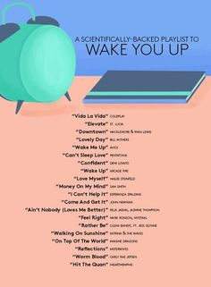 The playlist that will get your teen out of bed tomorrow morning! school tips, waking teens up on time, scheduling, playlists for teens, youth and tech Music Lyrics, Music Songs, My Music, Indie Music, Fun Songs, Gospel Music, Piano Music, Music Mood, Mood Songs