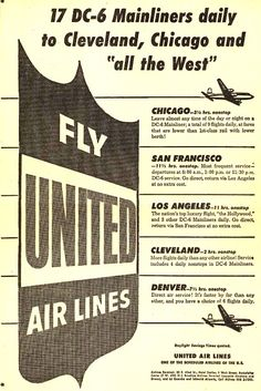 Image result for united airlines cleveland to chicago poster