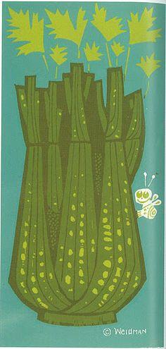 David Weidman - Celery  (i hate celery but i love this illustration)
