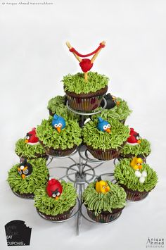 Angry birds cupcakes I made! :)