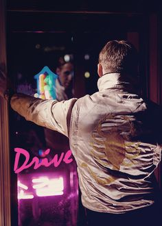 "Ryan Gosling in ""Drive"" - Get in. Get out. Get away."