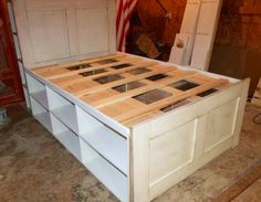 Queen Platform Storage Captain's Bed by SameAsNever on Etsy, $2000.00