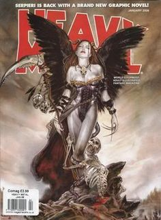 Heavy Metal Magazine Fan Page - Magazine List - Front Covers Fille Heavy Metal, Chica Heavy Metal, Heavy Metal Comic, Heavy Metal Girl, Metal Magazine, Magazine Art, Magazine Covers, Power Metal, Dark Fantasy Art