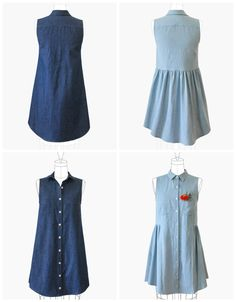 Purchase the Grainline Studio 13001 Alder Shirtdress sewing pattern and read its pattern reviews. Find other Dresses sewing patterns.
