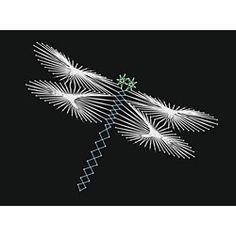 Free Printable String Art Patterns   String Art Fun Dragonfly Pattern