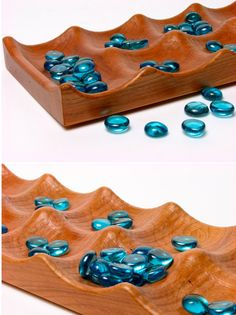 """Large Deluxe Mancala 24""""L x 6W"""" x 1""""D  - Wooden Game,  Solid Cherry,  Paul Szewc, Masterpiece Gallery by PaulSzewc on Etsy https://www.etsy.com/listing/185102647/large-deluxe-mancala-24l-x-6w-x-1d"""