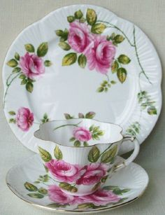 Vintage English Royal Albert Blossom Time Series Apple Blossom Gainsborough Shape Tea Cup and Saucer Tea Party - Ca. Tea Cup Set, My Cup Of Tea, Tea Cup Saucer, Tea Sets, China Cups And Saucers, Teapots And Cups, China Tea Cups, Tea Cup Display, Vintage China