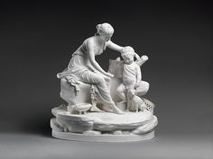 Seated woman and the infant Hercules Factory: Dihl et Guérhard (French, 1781–ca. 1824) (Manufacture de Monsieur Le Duc d'Angoulême, until 1789) Date: ca. 1781–89 Culture: French, Paris Medium: Hard-paste biscuit porcelain Dimensions: H. 16 in. (40.6 cm.); W. 14 1/4 in. (36.2 cm.); H. of base 4 1/2 in. (11.4 cm.); W. of base 15 1/16 in. (38.3 cm.) Classification: Ceramics-Porcelain Accession Number: 27.139.1a, b MET