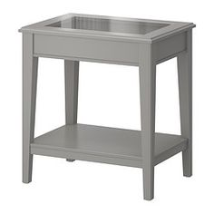 IKEA - LIATORP, Side table, white/glass, , Separate shelf for magazines, etc. helps you keep your things organized and the table top clear.