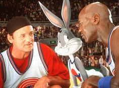 "Released on Nov. 15, 1996, the Warner Bros. film ""Space Jam"" starred Bill Murray (left), Bugs Bunny and Michael Jordan. Throughout it's time in the theaters, the movie brought in $90,418,342 in the United States and $230,418,342 worldwide."