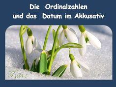 Das Datum im Akkusativ - Ordinalzahlen Welchen Tag haben wir heute? Briefe: Berlin, den ...