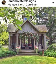 Thanks for posting on Instagram, @janiemolsterdesigns. Love this as a garden retreat or pool house
