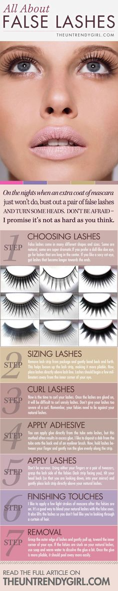 What kind of false eyelashes for your type of eyes?