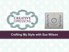 Creative Expressions - Garland Border by Sue Wilson - YouTube
