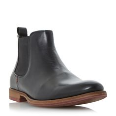Dune Montgomery Colour Sole Chelsea Boots, Black