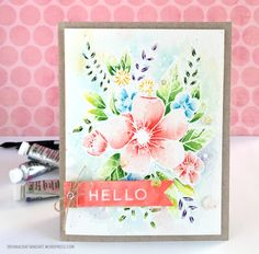 Hello #handmade card. Used #concordand9th Hello Lovely stamp set.