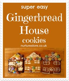 easy gingerbread houses :: easy Christmas cookie recipe for kids :: gingerbread recipe