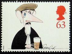 Peter Cook acteur britannique-fait à la main encadré timbre