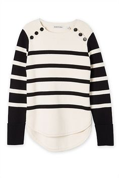 Shop Women's new in clothing and accessories at Country Road. Warm Coat, Striped Knit, Knit Cardigan, Knitwear, Girl Fashion, Clothes For Women, Knitting, My Style, Sweatshirts