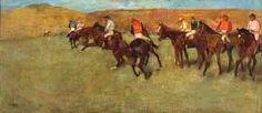 En las carreras. Antes de la salida, Edgar Degas, (serie de caballos) IMPRESIONISMO