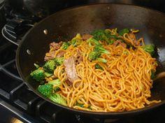 Stir-Fried Lo Mein With Beef and Broccoli | Serious Eats : Beef and broccoli might only be a classic combination in the American Chinese repertoire, but that doesn't make it any less delicious. In most restaurants, you'll find it served with rice, but I like to stir-fry it with hearty lo mein noodles.