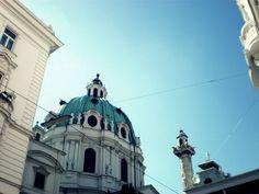 Karlsplatz  #karlsplatz #wien #Vienna #travel #church #city #traveling #austria #blue #sky #europe #austriatoday.