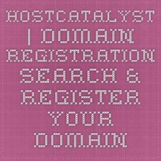 HostCatalyst | Domain Registration - Search & register your domains here