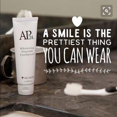 My absolute favorite Nu Skin product. The only whitening toothpaste me and my family uses. Ap 24 Whitening Toothpaste, Whitening Fluoride Toothpaste, Best Teeth Whitening Kit, Whitening Skin Care, Teeth Whitening Remedies, Natural Teeth Whitening, Nu Skin, Dental Cosmetics, Cosmetic Dentistry