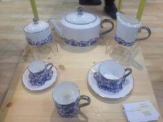 Blue Carnation available to buy from Buttercup China | #jinnynguidesign #bluecarnation #blueandwhite #buttercupchina #stokeontrent #britishmanufacturing #bonechina #handdecorated
