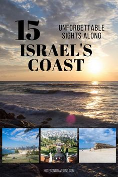15 top sights along the Israeli Coast : If you have only a few days in Israel, make them a trip along the Israeli coast with its natural sites, ancient culture, and good old modern entertainment. Tel Aviv, Places To Travel, Travel Destinations, Places To Visit, Travel Around The World, Around The Worlds, Israel Travel, Israel Trip, Israel Tours