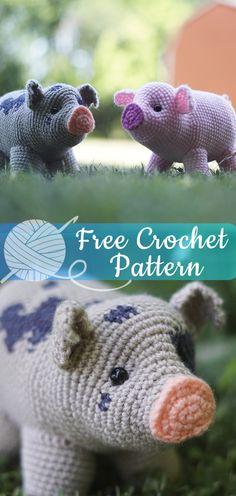 Mesmerizing Crochet an Amigurumi Rabbit Ideas. Lovely Crochet an Amigurumi Rabbit Ideas. Crochet Pig, Crochet Gratis, Crochet Dolls, Easy Crochet Animals, Crotchet Animals, Easy Animals, Crocheted Toys, Crochet Afghans, Diy 2019