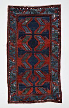 Abstract Caucasian Kazak Carpet