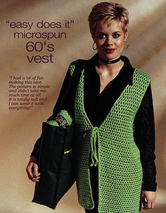 """1960's Crochet  'Hippie' Vest - my plan was to make this because it is """"easy"""" but some of the reviews were not good."""