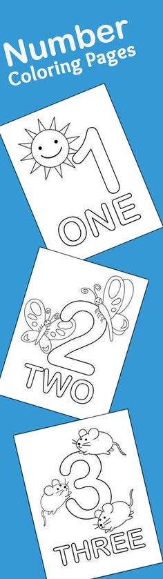 21 Easy To Learn Number Coloring Pages For Kids: This is a list of the top 21 number coloring sheets that you can use to introduce numbering as well as coloring to your kid Preschool Kindergarten, Preschool Printables, Preschool Crafts, Toddler Preschool, Teaching Toddlers Colors, Crafts For Preschoolers, Fun Printables For Kids, Free Alphabet Printables, Kindergarten Coloring Pages