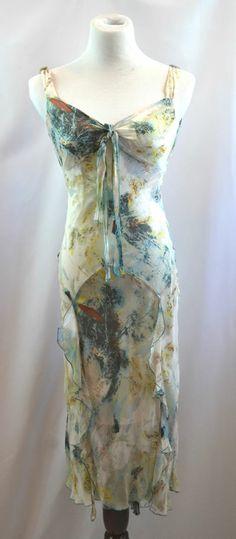$365 DIANE VON FURSTENBERG Ruffled Lace Silk Flower Dress - Size 6
