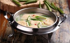 Fish-flavoured tofu soup with okra #  Guangxi cuisine